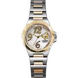 LICORNE 蝴蝶美人珍珠晶鑽腕錶-半金 LB906BTWA-1