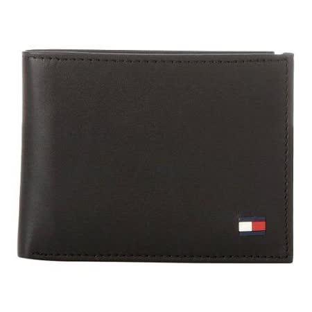 Tommy Hilfiger 2014男時尚多爾雙折黑色皮夾【預購】