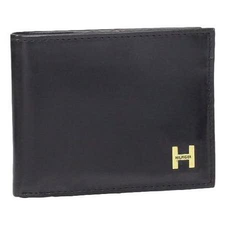 Tommy Hilfiger 2014男時尚利茲雙折黑色皮夾【預購】