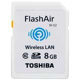 TOSHIBA FlashAir 8GB SDHC Class10 記憶卡(平行輸入) - 加送果凍耳機+平板套