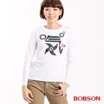 BOBSON 女款印氣長袖上衣(32139-02)