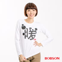 BOBSON 女款印暖長袖上衣(32139-03)