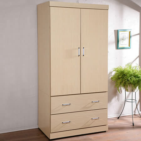 《Homelike》都會時尚3尺衣櫥-白橡木紋
