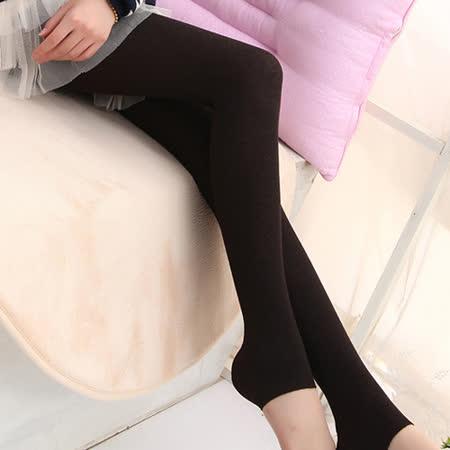 Olivia 顯瘦編織水波紋保暖踩腳褲襪