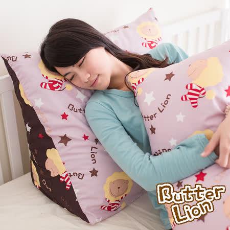 【奶油獅】正版授權-台灣製造~搖滾星星三角靠墊-淡紫(一入)