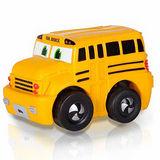 諾貝兒益智玩具 迷你超級校車巴士(軟殼) 迴力車