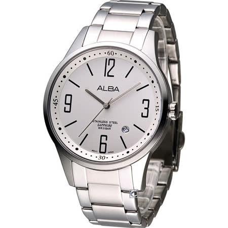 ALBA 簡約紳士石英錶 VJ42-X096S AS9675X1