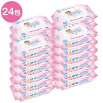 【貝比Q】EDI超厚超純水柔濕巾/80抽x24包/箱/(無香料)