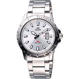 ORIENT 探險家SP石英鋼帶腕錶-銀 FUNE2006W