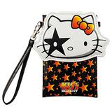 【KISS HELLO KITTY 】 5.7 吋通用經典大頭繽紛皮革手機袋-搖滾星星