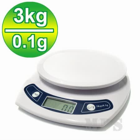 【3公斤0.1g】廚房烘培液晶料理秤/電子秤/麵包秤