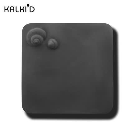 【KALKI'D】親水泥神奇吸水杯墊--黑色圓螺
