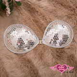 【天使霓裳】銀鑽亮片 派對必備款隱形胸罩