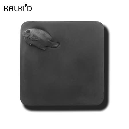【KALKI'D】親水泥神奇吸水杯墊--黑色魚