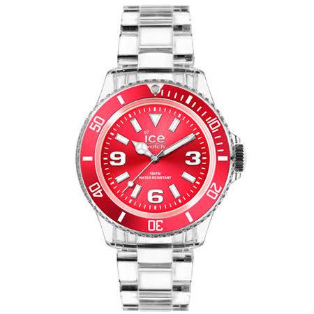 ICE Watch PURE系列 純淨透明腕錶-寶紅-(大)48mm