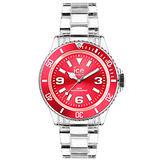 ICE Watch PURE系列 純淨透明腕錶-寶紅-(中)42mm