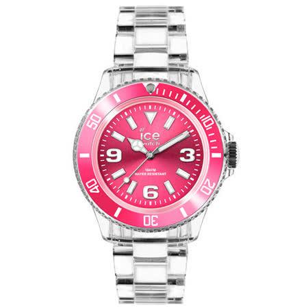 ICE Watch PURE系列 純淨透明腕錶-粉紅-(中)42mm