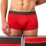 【EMPORIO ARMANI】2014男時尚鷹標紅黑混搭平角內著2件組【預購】