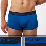 【EMPORIO ARMANI】2014男時尚鷹標雙藍混搭平角內著2件組【預購】