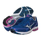 Mizuno WAVE SPACER DYNA 女用路跑鞋(藍) J1GB147605