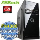 華擎760平台【暗影武僧】AMD FX四核 R724OC-2G DDR3獨顯 500GB燒錄電腦