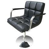 高級精緻PU皮革(中背扶手)吧台椅/吧檯椅/會客椅/洽談椅-1入組(三色可選)