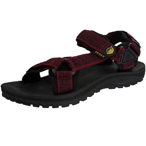 雪松RAN^(CEDAR^)款518紅黑男女鞋情侶鞋專櫃正品防水防滑厚真牛皮戶外鞋露營鞋徒