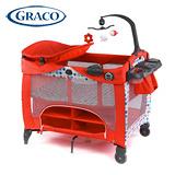 GRACO Contour Prestige多功能舒適嬰幼兒電動遊戲床(點點紅)