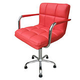 高級精緻PU皮革(中背扶手)吧台椅/會客椅/洽談椅(固定腳)-2入組(三色可選)