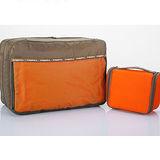 M Square 防水沐浴包+雙層衣物袋超值組(糖果橙)