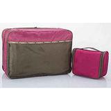 M Square 防水沐浴包+雙層衣物袋超值組(紫羅蘭)