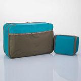 M Square 防水沐浴包+雙層衣物袋超值組(孔雀藍)