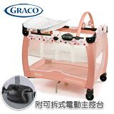 GRACO Contour Electra舒適嬰幼兒電動安撫遊戲床(愛心粉)