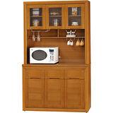 日式量販-檜金4尺實木隔間餐櫃