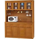 日式量販-檜金5.2尺實木隔間餐櫃