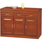 日式量販-金鑽4尺實木餐櫃