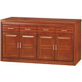 日式量販-金鑽5.3尺實木餐櫃