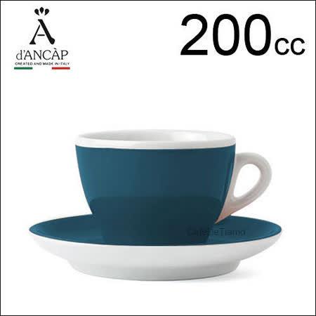 d'ANCAP Torino 卡布咖啡杯盤組-綠色 200cc (1杯1盤) HG9373