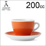 d'ANCAP Torino 卡布咖啡杯盤組-橘色 200cc (1杯1盤) HG9376