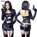 【超商取貨】虐戀精品CICILY-特務J女郎-特務裝扮 塗膠仿皮 性感緊身膠衣