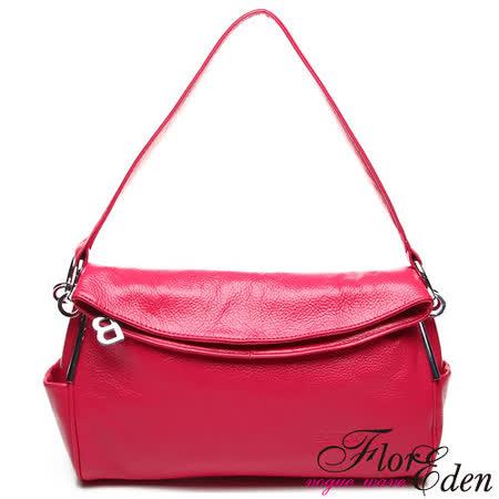 DF Flor Eden - 歐系甜美氣質款頭層小牛皮肩斜背2用包-共2色
