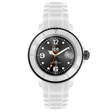 ICE-Watch WHITE系列 運動風尚腕錶-白x黑/42mm