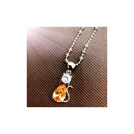 【M.I.T】可愛貓咪水晶項鍊
