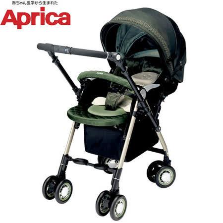 愛普力卡 Aprica SORARIA DX 749 Auto 四輪自動定位導向型嬰幼兒手推車(抹茶深綠)