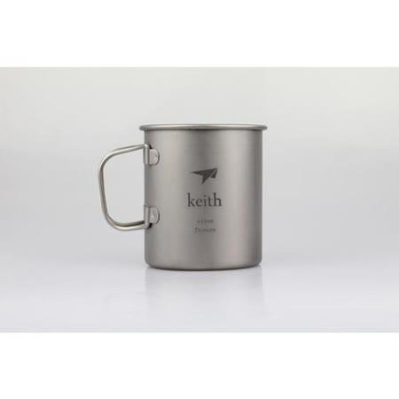 KEITH 100%純鈦 450ml 單層杯子.水杯.茶杯 / Ti3204