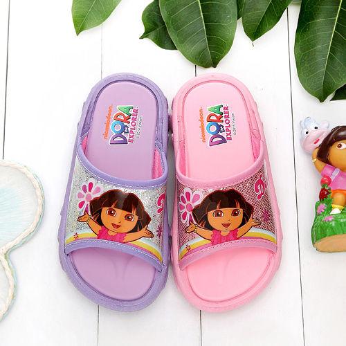【童鞋城堡】朵拉亮體女童拖鞋台灣製DR2922