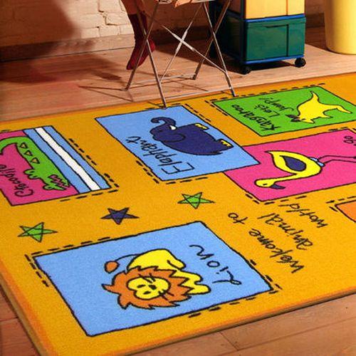 范登伯格 兒童成長學習遊戲毯-動物學英語-100x130cm