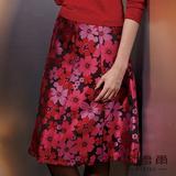 【麥雪爾】華麗璀璨~中日貴族折縫紅晶長裙