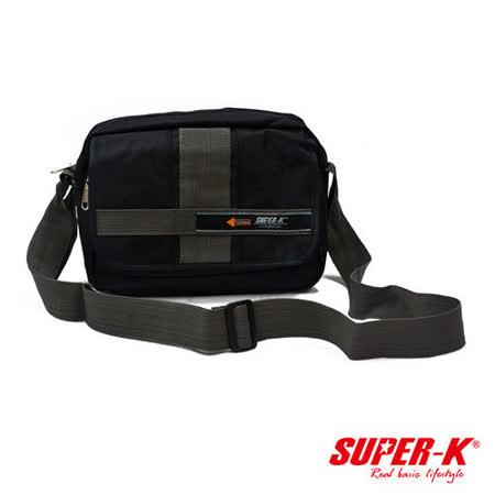 《購犀利》美國品牌【SUPER-K】炫黑系列-個性化側背包-SHD00551