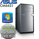 ASUS華碩 CM6431【時尚美型】Intel G2030雙核心 Win7燒錄電腦(CM6431-203G77A)